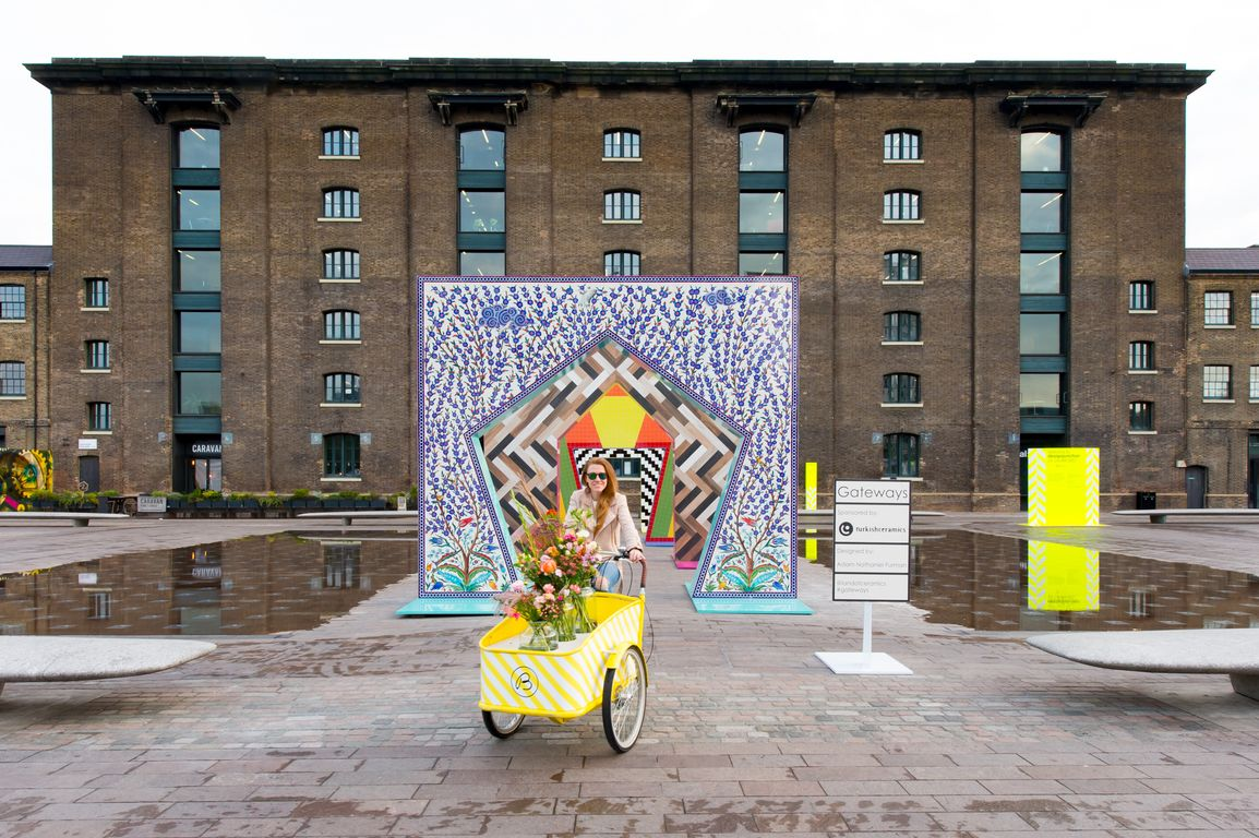 TURKISHCERAMICS UNVEILS GATEWAYS AT GRANARY SQUARE, KING'S CROSS, A CERAMIC INSTALLATION DESIGNED BY ADAM NATHANIEL FURMAN
